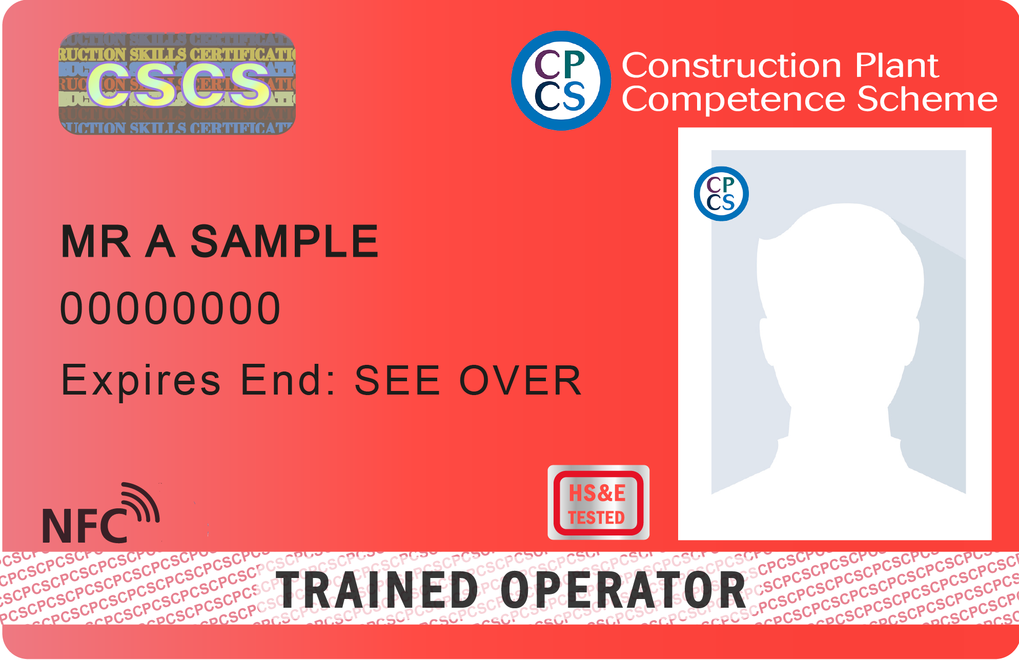 CPCS-New Trained Operator Card